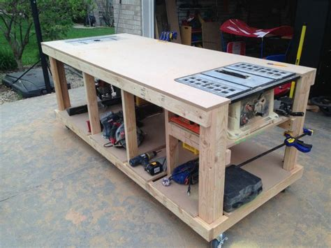workbench with built in table saw and router locations i