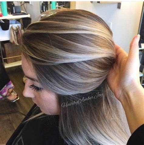 highlights for brunettes to cover gray hair dark brown hairs best highlights to cover gray hair wow com image