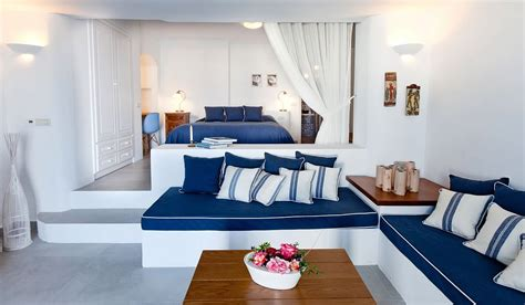 santorini bedroom skiron villa in santorini with private pool family