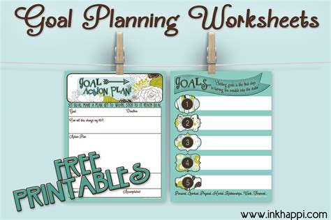 goal planning worksheet goal planning worksheets with free printables inkhappi