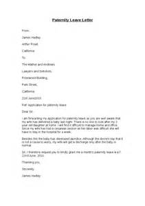 Parent Leave Letter To Paternity Leave Letter Hashdoc