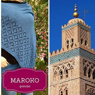 Maroko Ponco ravelry maroko poncho pattern by kamila wojciechowska