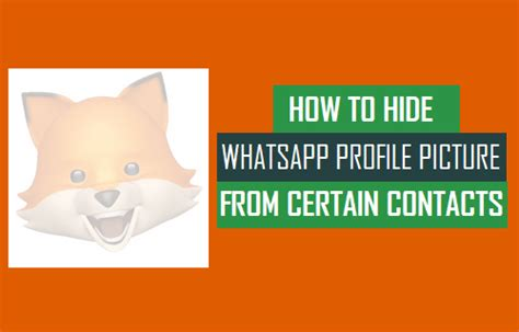 how to hide profile picture on whatsapp from strangers how to hide whatsapp profile picture from certain contacts