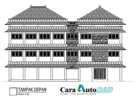 gambar layout gedung gambar gedung 3 lantai dwg cara autocad
