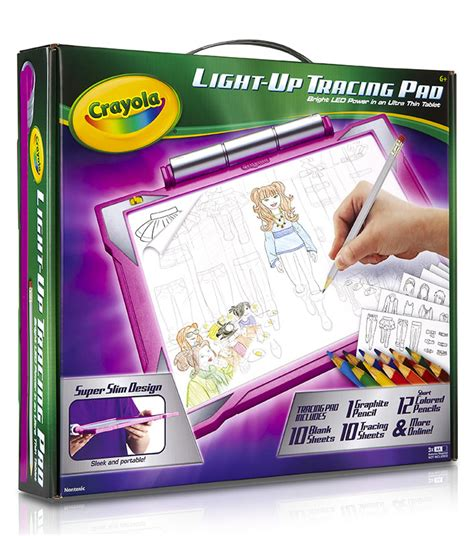light up tracing desk amazon com crayola light up tracing pad pink toys