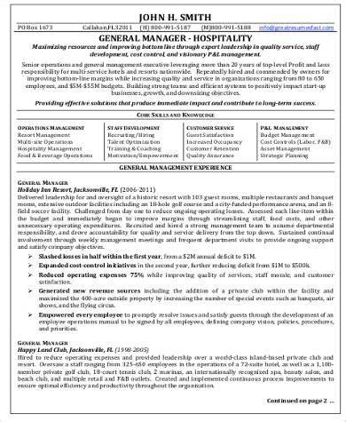 hotel management resume format pdf sle hospitality resume 8 exles in word pdf