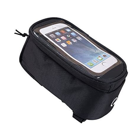 Bike Waterproof Bag 55 Inch Smartphone Tas Frame Sepeda Hp Anti duragadget shockproof bicycle front frame saddle bag with