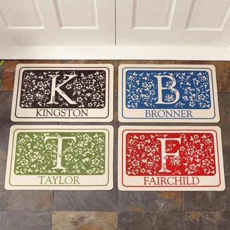 Initial Doormat by Personalized Initial Doormat Walmart