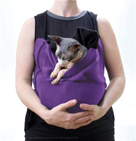 sling carrier sling cat carrier purple slinx by simply by simplysphynx