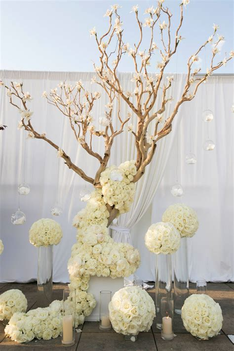 tree centerpieces ideas manzanita wedding on festival themed wedding