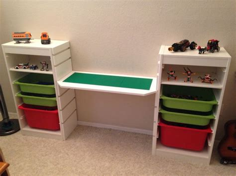Lego Desk by Lego Desk Used Trofast For The Ends And Had