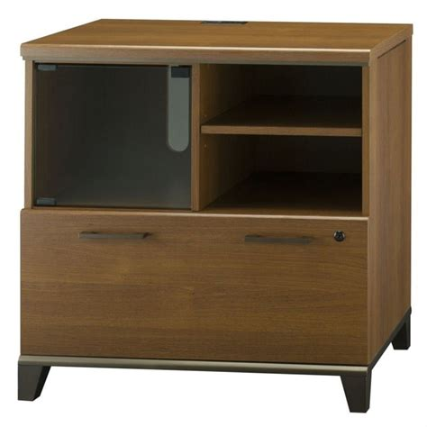 1 Drawer Lateral File Cabinet Bush Achieve 1 Drawer Lateral File Cabinet In Warm Oak Pr67390