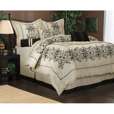 walmart queen bedding sets alsatia 7 piece bedding comforter set walmart com