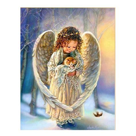 high quality boy girl diy home decor embroidery diamond high quality diy diamond painting angel 5d 3d crystal