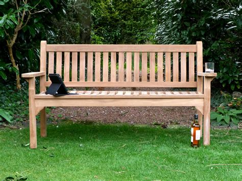 amazon garden benches westminster flat arm teak bench 150cm flat arm teak bench 150cm