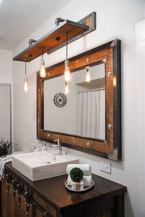 rustic bathroom lighting ideas pinterest
