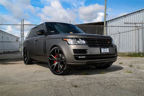 matte range rover 2017 gallery matte grey range rover on forgiato wheels