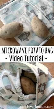 Potato Tutorial baked potato microwave bag with tutorial