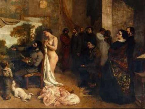 imagenes realistas de gustave courbet el taller del pintor 1855 gustave courbet youtube