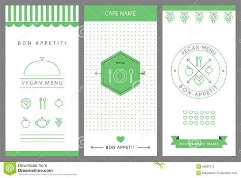 menu card design template vector restaurant vegetarian menu card design template stock