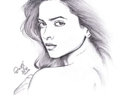deepika padukone drawing i love movies deepika padukone pencil sketch