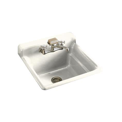 cast iron laundry sink shop kohler biscuit cast iron laundry sink at lowes com