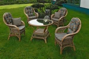 sitzgruppe wintergarten rattan sitzgruppe finco vintage braun 183 krines home