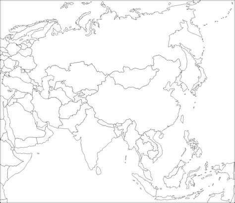 blank map of asia countries blank map of asia by zalezsky on deviantart