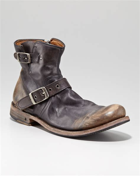 mens engineer boots varvatos goodyear engineer boot in black for lyst