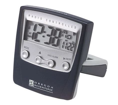 oregon scientific rm832a radio controlled travel alarm clock qvc