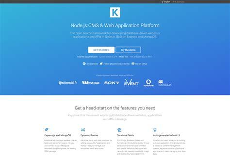keystone node js tutorial 60 fresh resources for designers december 2015