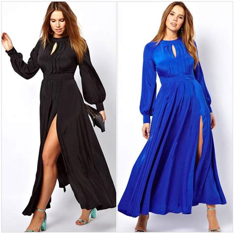 2015 large big plus size clothing frilled maxi