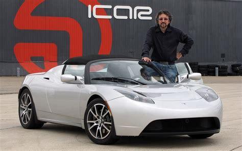 Tesla Car Test Drive S 233 Guin Et Sa Tesla Roadster La Premi 232 Re 224 Rouler