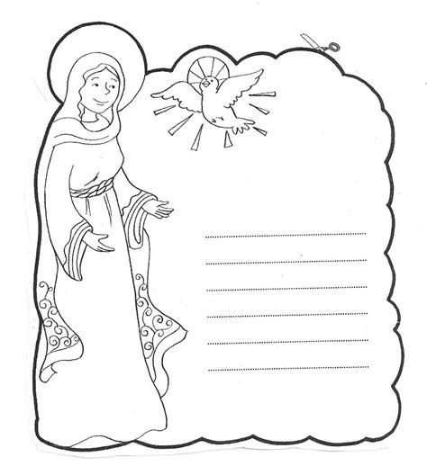 letter to mary catholic coloring page catholic coloring