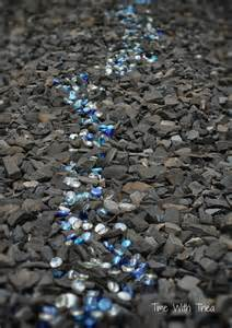 Garden Shale Rock Landscaping With Shale Rock And Glass Gems Time With Thea