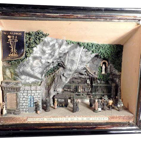 Backroom Lourdes by 19th Century Diorama The Miraculous Of Lourdes