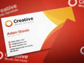 card business free psd creative media business cards in 2 colors