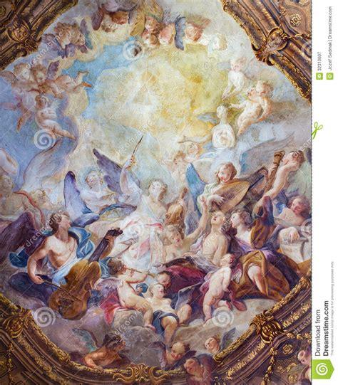 haustüren in der nähe wenen de barokke fresko engelenkoren plafond 233 233 n