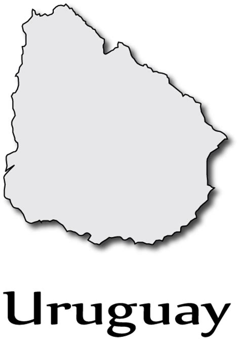 Uruguay Flag Outline by Uruguay Map Free Colouring Pages