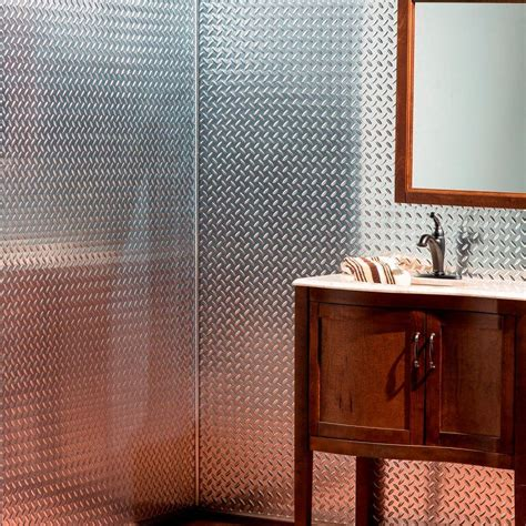 bathroom wall paneling home depot fasade diamond plate 96 in w x 48 in h x 0 013 in d