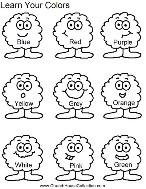 Coloring Pages Learn Your Colors Preschool Kids Worksheet Free Printable Color Worksheets