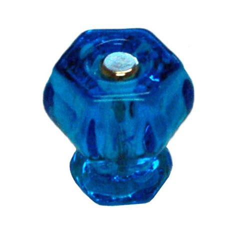 Colored Knobs For Cabinets by Glass Colored Hexagonal Cabinet Knobs 11 Colors Hippo