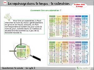 Le Calendrier Ce1 Le Calendrier Ce1 Le Cycle 2 Apr 232 S L 233 Cole