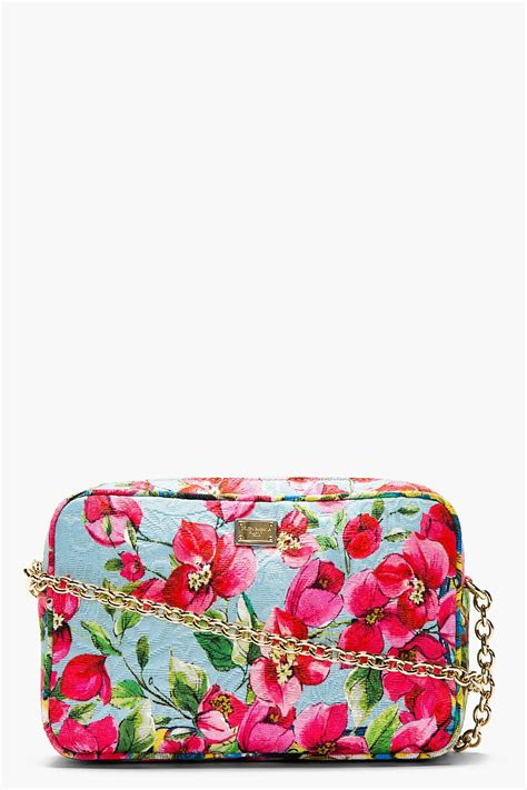 Dolce And Gabbana Floral Purse by Dolce And Gabbana Pink Floral Print Shoulder Bag Luxury