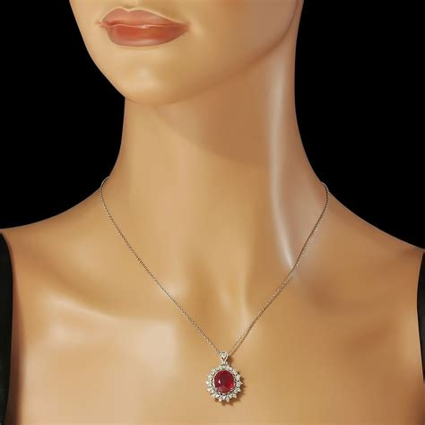 Ruby 8 65ct 14k gold 7 08ct ruby 0 65ct pendant