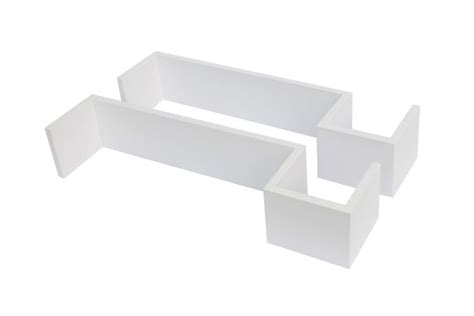 2 x s shaped large floating wall shelves units dvd cd book