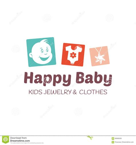 editable logo templates baby shop logo vector template stock vector illustration