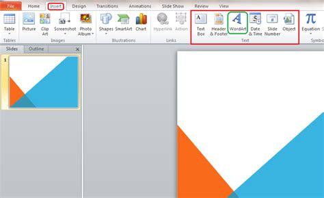 kegunaan layout presentasi menyisipkan wordart pada slide presentasi pensil egi