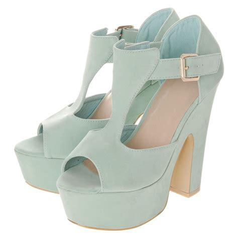 platform heels sandals t bar platform block heel sandal miss from miss