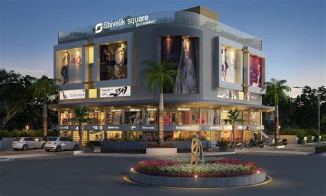 layout of marketplace mall exterior cgi design rendering for architectural